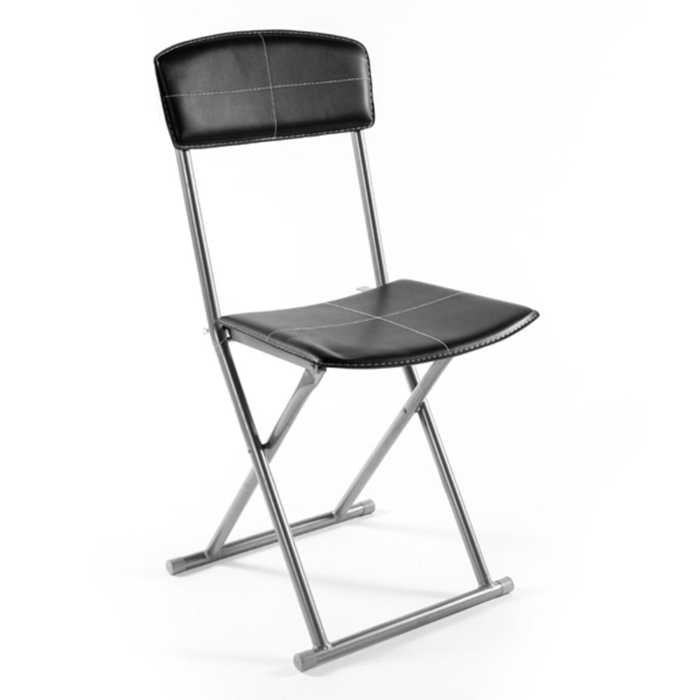 Chaise pliante boyeros noir - Chaise pliante design salle a manger ...