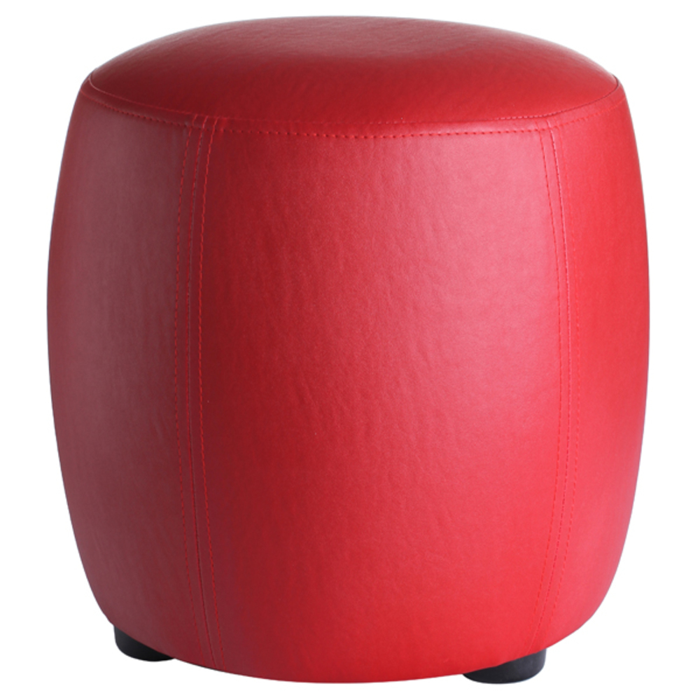 pouf rond round rouge. Black Bedroom Furniture Sets. Home Design Ideas