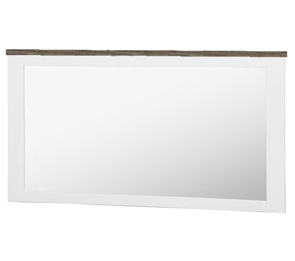 Miroir rectangulaire white horse blanc for Miroir rectangulaire