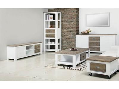 Bahut 2 portes  3 tiroirs petit modele White horse