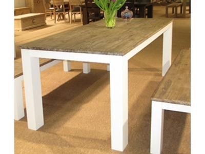 Table repas avec allonge White horse