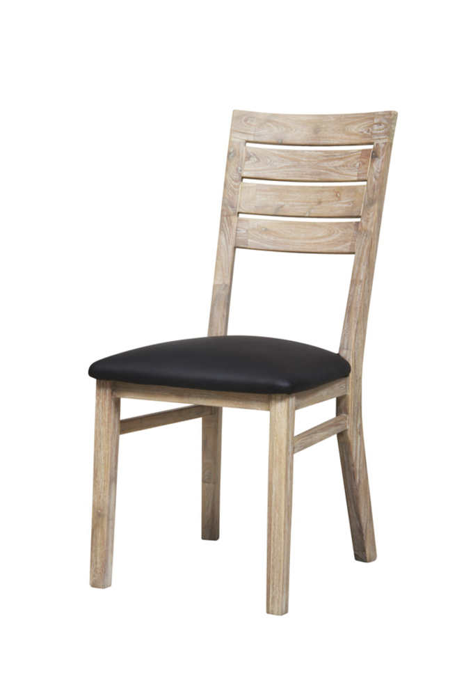 Chaise sejour praha acacia blanchi for Chaises de table a manger
