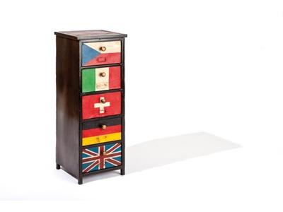 Chiffonnier 5 tiroirs Flags