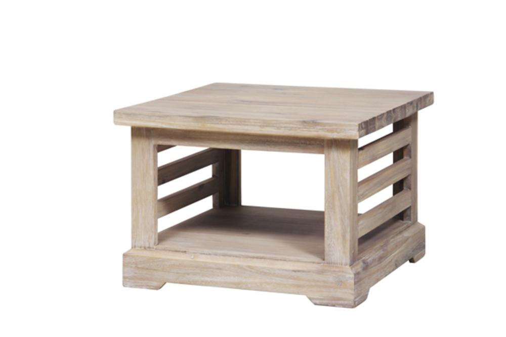 bout de canape praha acacia blanchi. Black Bedroom Furniture Sets. Home Design Ideas