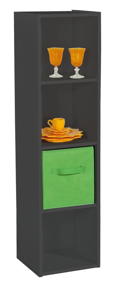 rangement 4 cases compo 14 noir. Black Bedroom Furniture Sets. Home Design Ideas