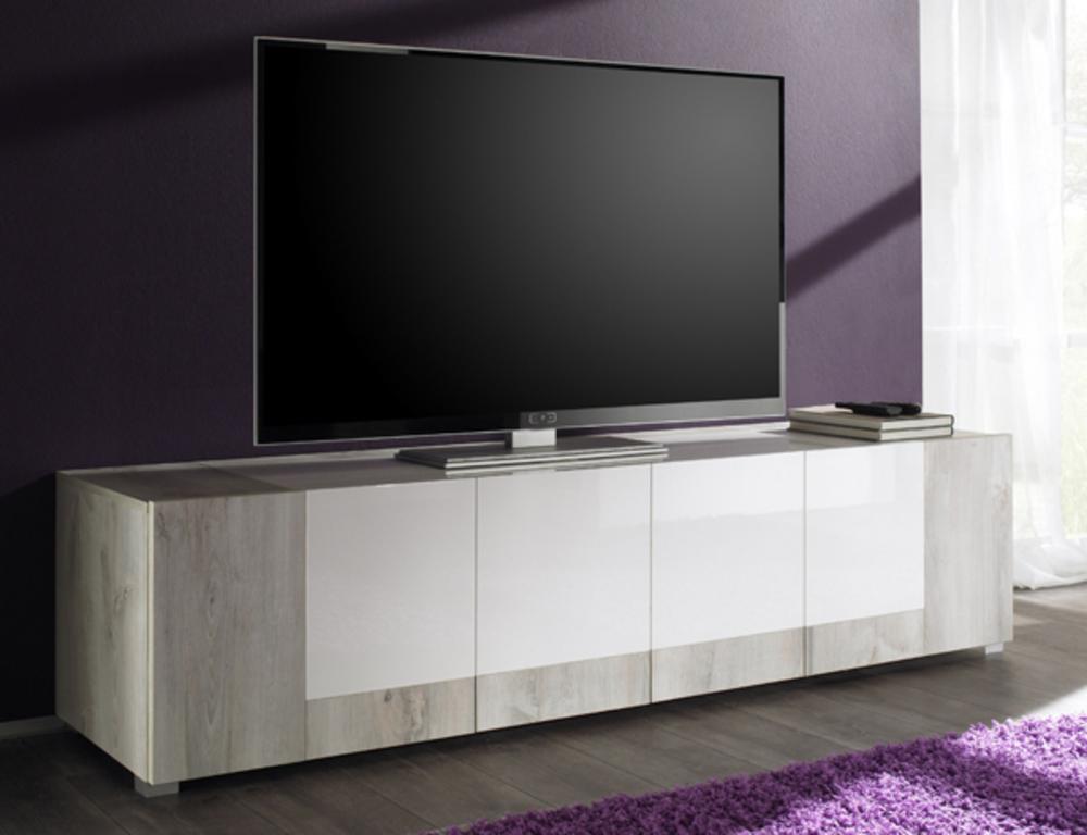 Meuble Tv Basika : Meuble Tv Soon Pin Blanchiblanc Laque