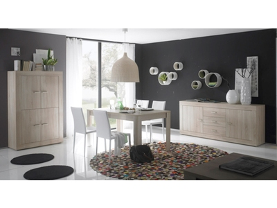 bahut 2 portes 3 tiroirs aura chene samoa. Black Bedroom Furniture Sets. Home Design Ideas