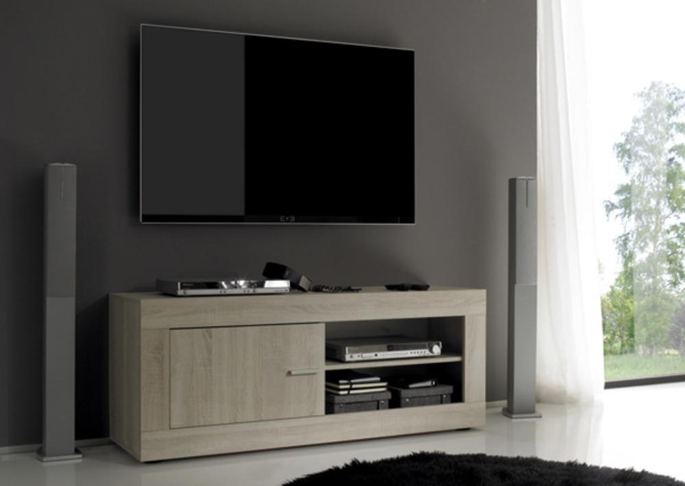 Meuble tv aura chene samoa for Basika meuble tv