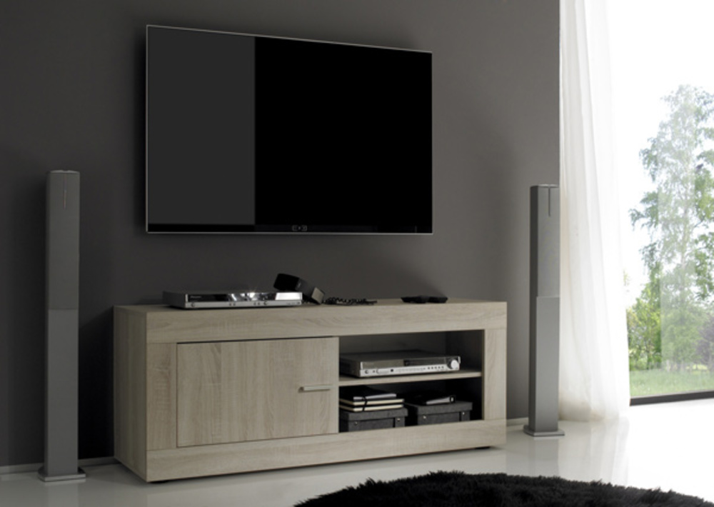 meuble tv aura chene samoa. Black Bedroom Furniture Sets. Home Design Ideas