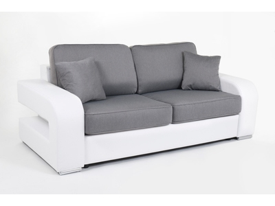 canape convertible couchage 140 cm alban wilma blanc jeans 107. Black Bedroom Furniture Sets. Home Design Ideas