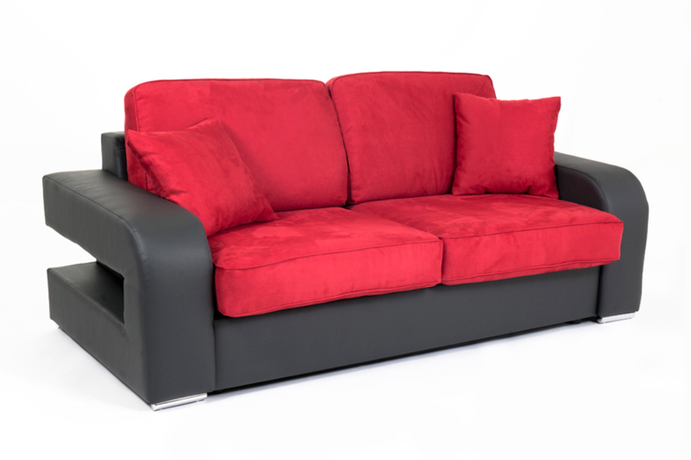 Canape convertible couchage 140 cm alban wilma graphite for Canape couchage permanent