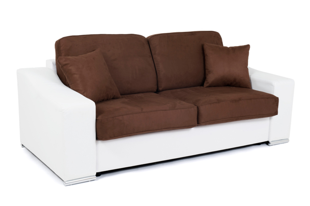 canape convertible couchage 140 cm onda wilma blanc micro 23. Black Bedroom Furniture Sets. Home Design Ideas