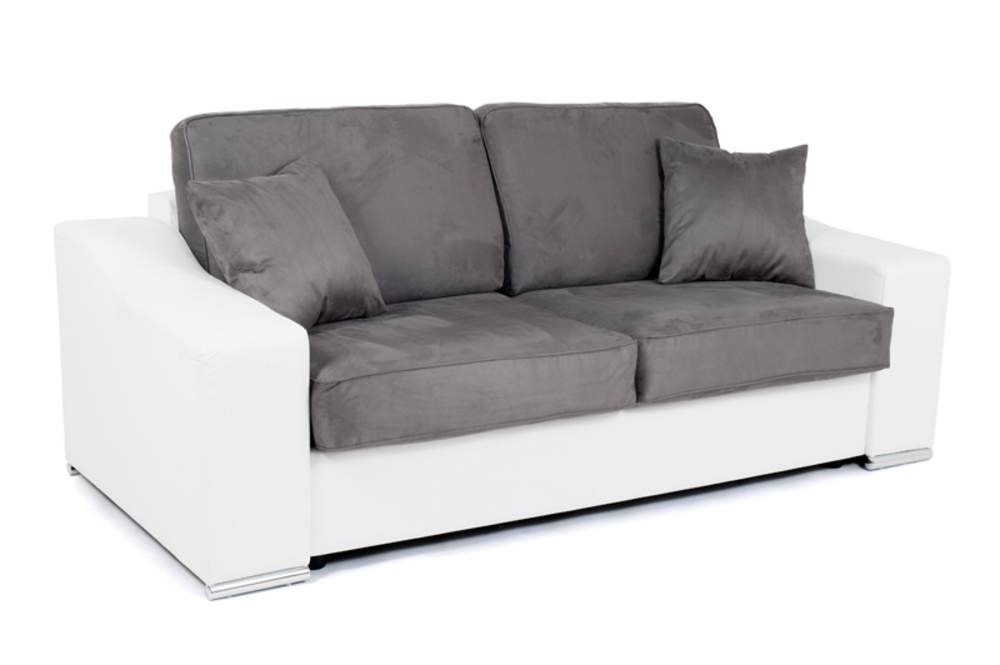 canape convertible couchage 140 cm onda wilma blanc micro 21. Black Bedroom Furniture Sets. Home Design Ideas