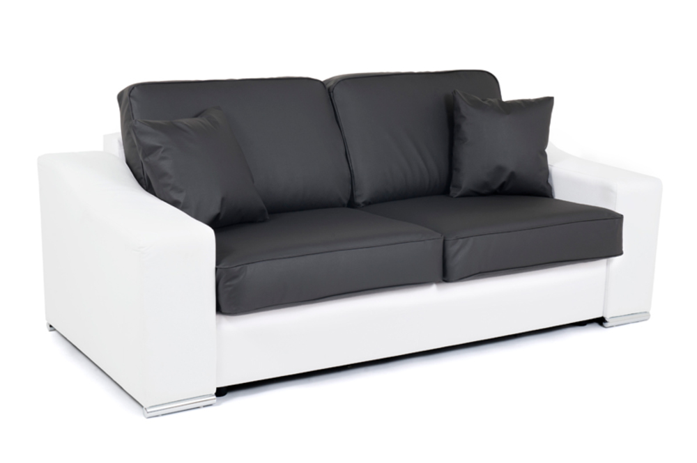 canape convertible couchage 140 cm onda wilma blanc wilma graphite. Black Bedroom Furniture Sets. Home Design Ideas