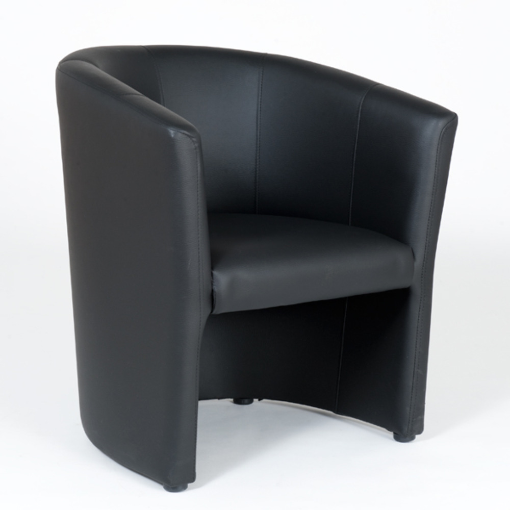 fauteuil cabriolet en pvc noir kuba. Black Bedroom Furniture Sets. Home Design Ideas