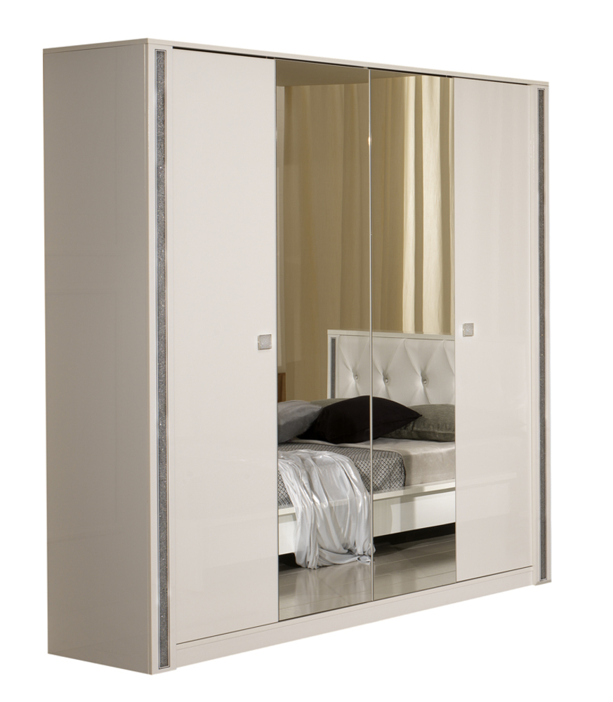 armoire tess chambre a coucher blanc brillant. Black Bedroom Furniture Sets. Home Design Ideas
