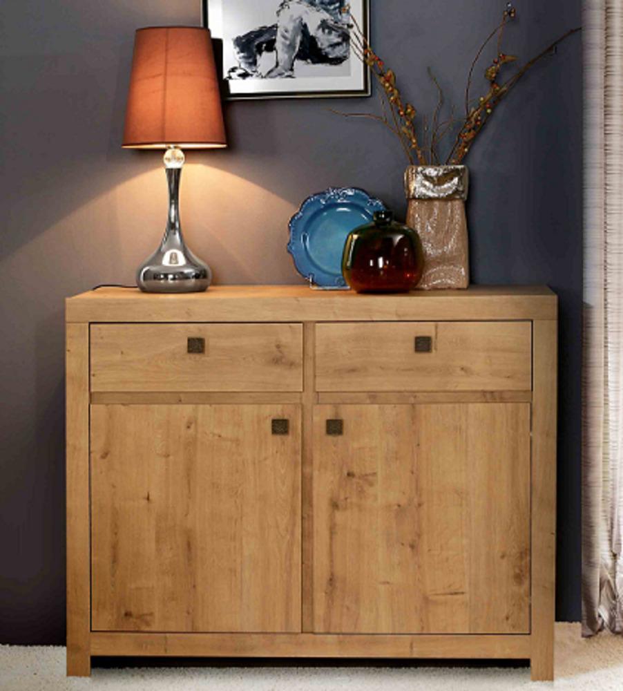 bahut 2 portes 2 tiroirs indigo salle a manger chene clair. Black Bedroom Furniture Sets. Home Design Ideas