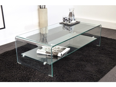 Manger bois table basse en verre 60x60 table basse vera 2 translucide