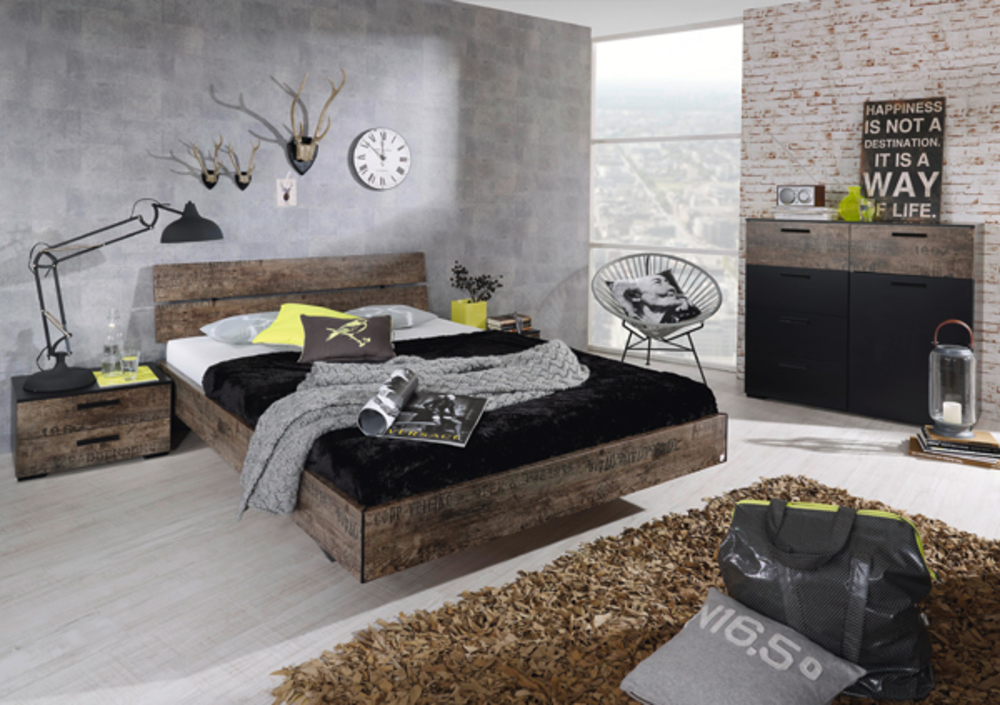 Une d co industrielle for Chambre style atelier industriel