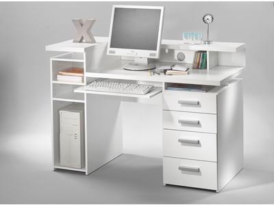 bureau franzisca blanc. Black Bedroom Furniture Sets. Home Design Ideas