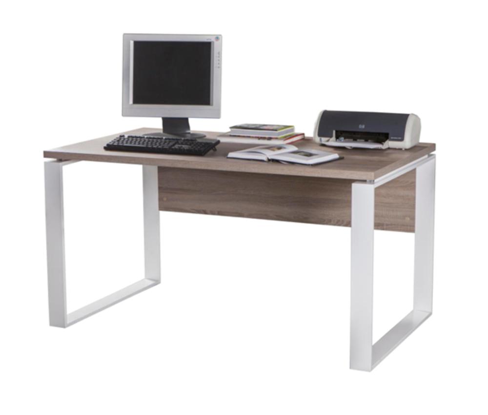 bureau 140 ufficio chene sonoma fonce blanc