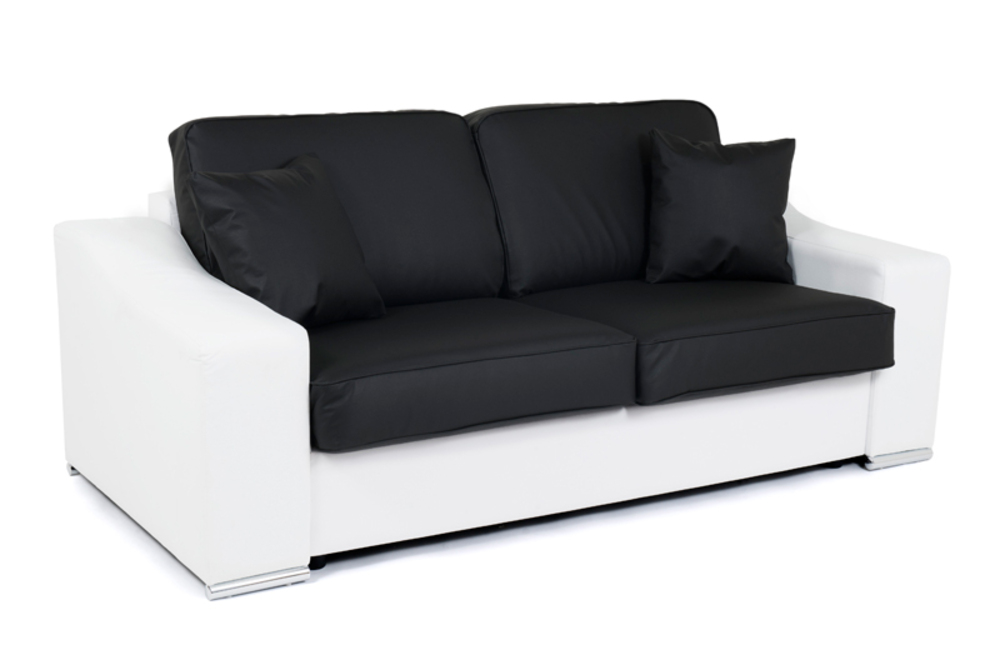 Canape convertible couchage 160 cm Onda Wilma blanc / wilma noir