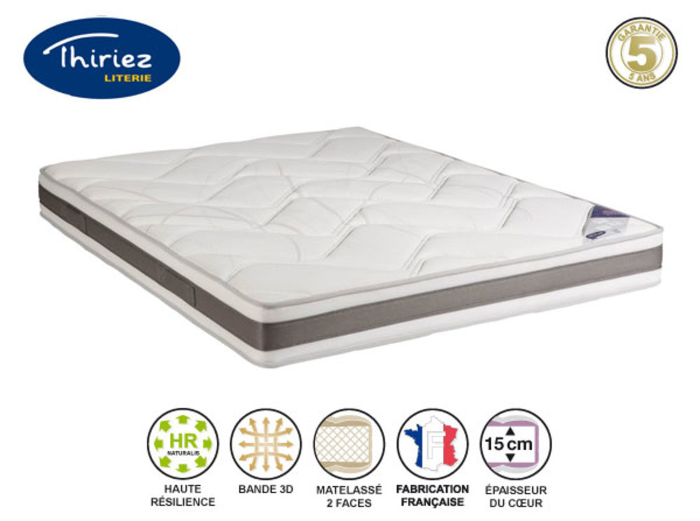 matelas hr 38 kg alveo magnifique thiriez l 160 x h 21 x p 200. Black Bedroom Furniture Sets. Home Design Ideas