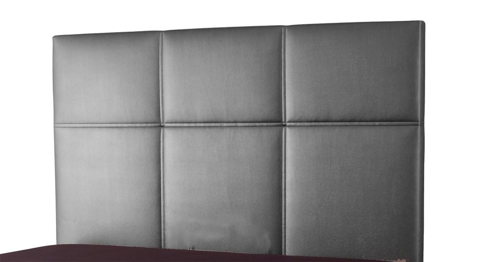 Tete de lit lea spagna gris anthracite c 040 l 155 x h 100 x p 7 - Tete de lit capitonnee gris anthracite ...