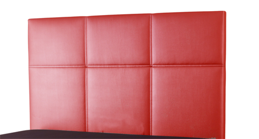 tete de lit lea spagna rouge l 155 x h 100 x p 7. Black Bedroom Furniture Sets. Home Design Ideas