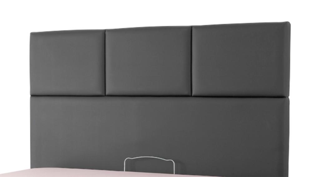 tete de lit tetra spagna gris anthracite c 040 l 155 x h 100 x p 10. Black Bedroom Furniture Sets. Home Design Ideas