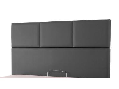 tete de lit tetra spagna gris anthracite c 040 l 165 x h 100 x p 10. Black Bedroom Furniture Sets. Home Design Ideas