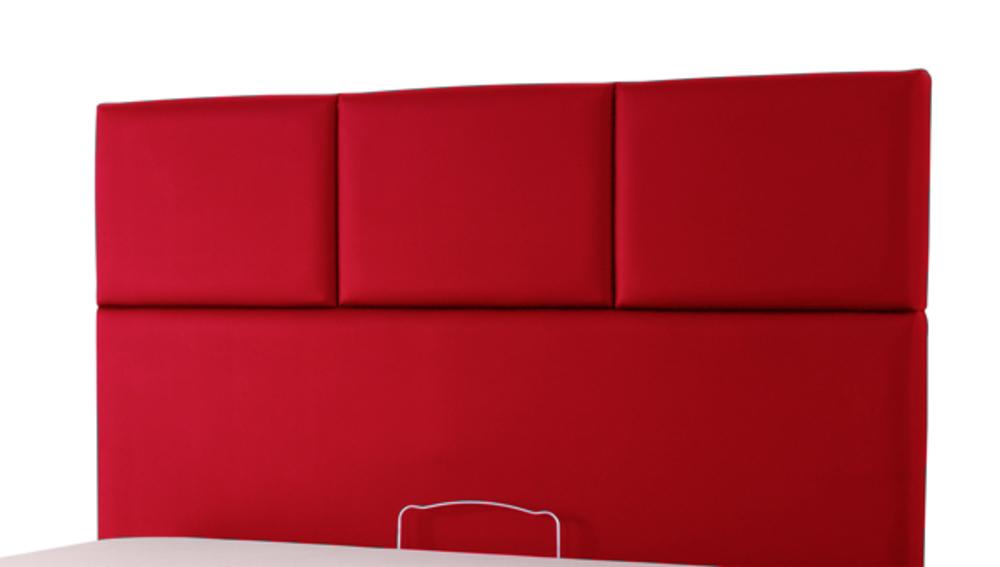 tete de lit tetra spagna rouge c 145 l 165 x h 100 x p 10. Black Bedroom Furniture Sets. Home Design Ideas