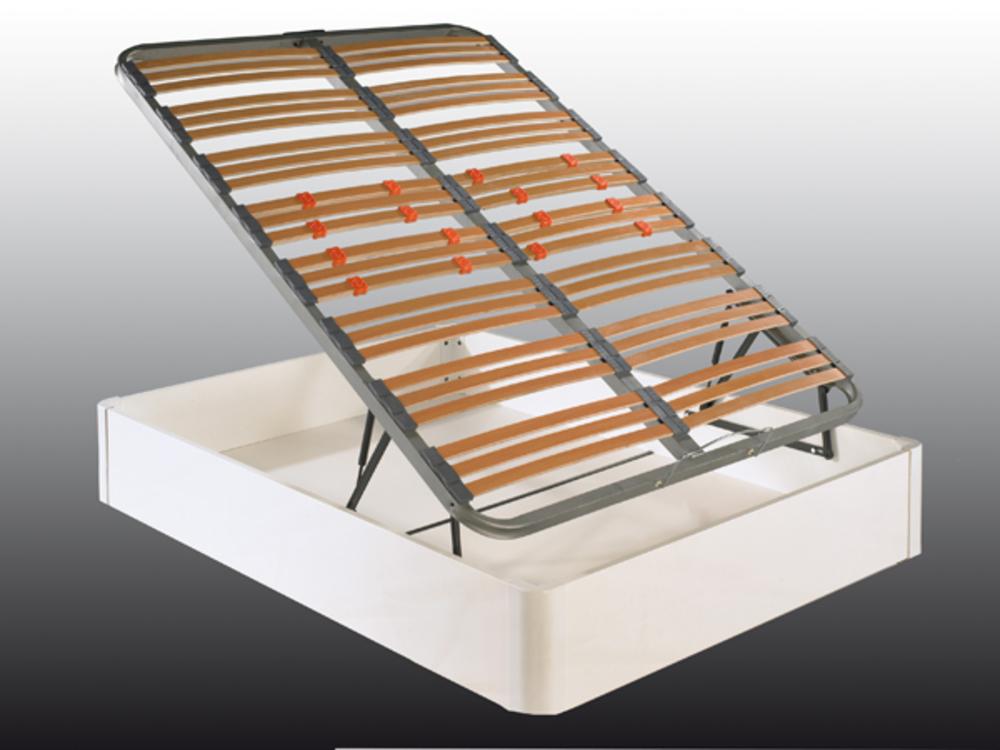 lit sommier avec coffre zen blanc. Black Bedroom Furniture Sets. Home Design Ideas