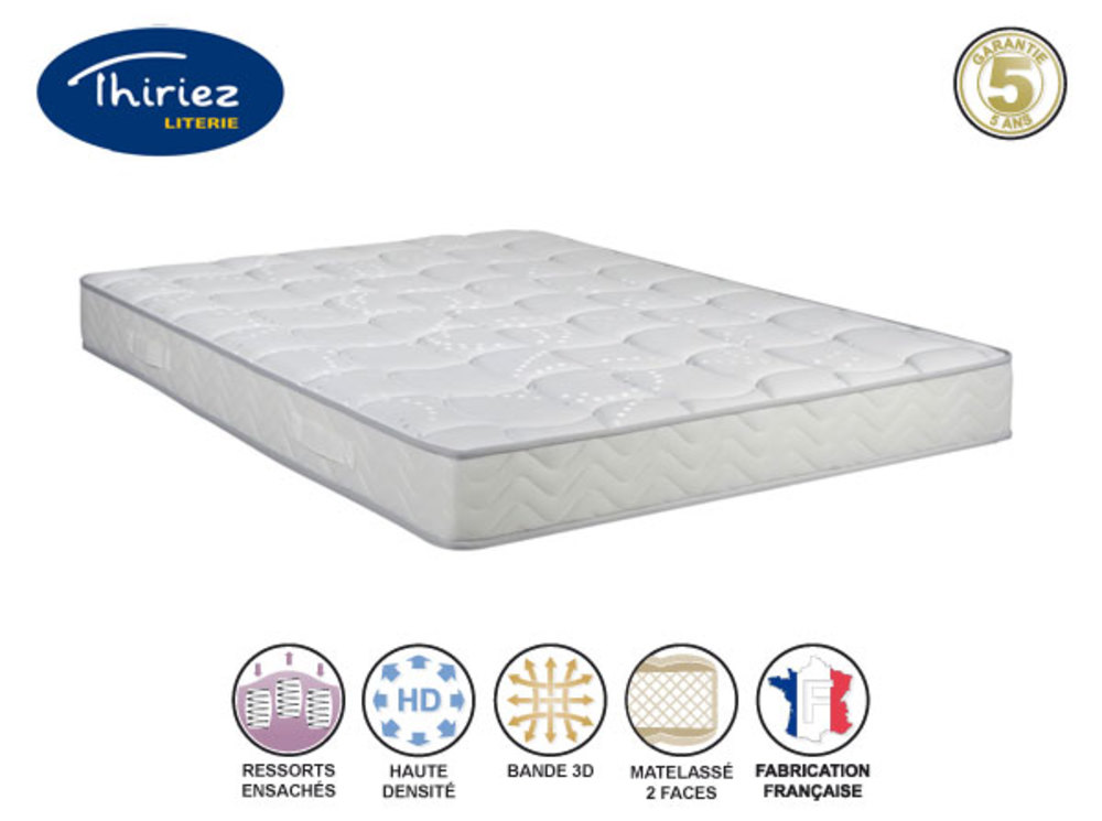 matelas ressorts ensaches springto actif thiriez l 180 x h 22 x p 200. Black Bedroom Furniture Sets. Home Design Ideas