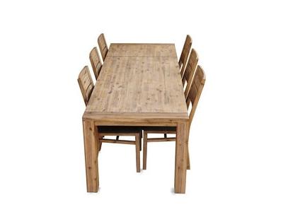 Table rectangulaire avec 1 rallonge de 40 cm Hamburg