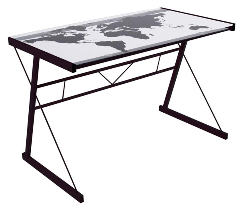 Meuble informatique bureau bureaux en m tal bois verre pas cher - Planche de bureau ikea ...