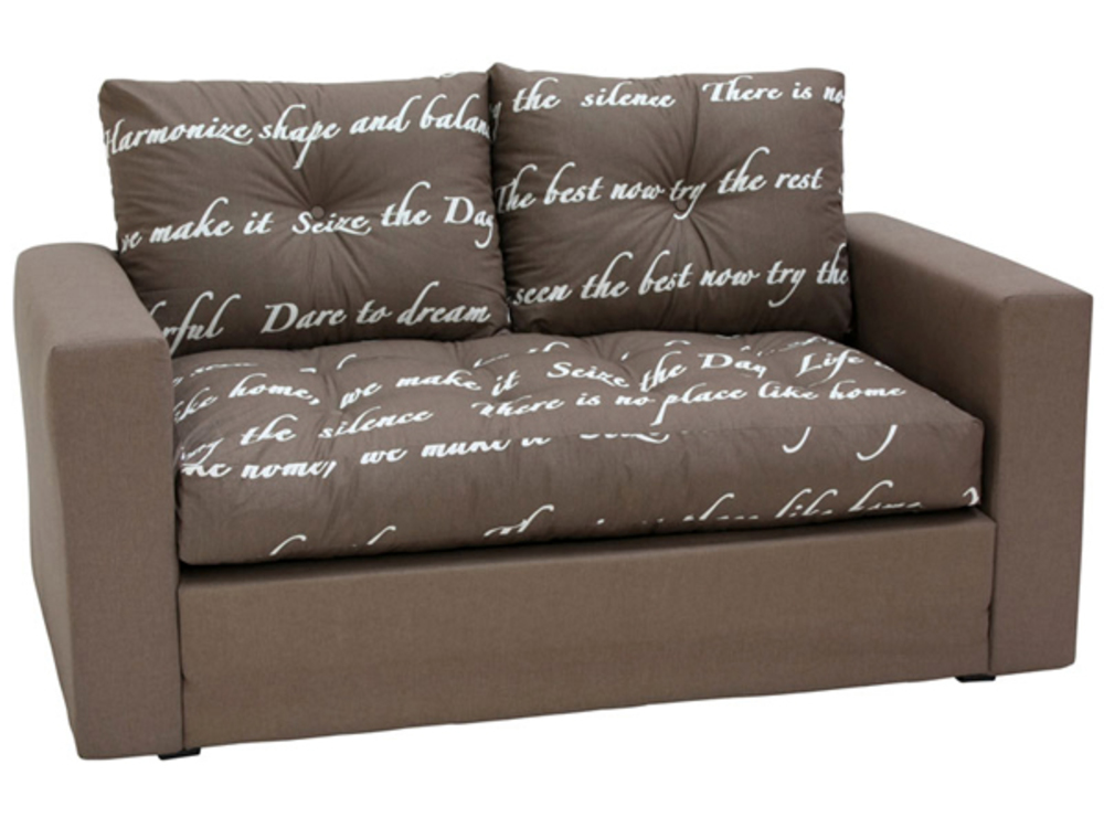 Canape lit deplimousse first ecriture chocolat for Sofa lit pas cher