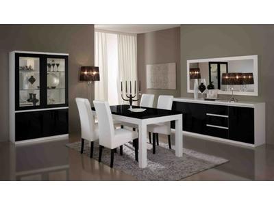Bahut 3 portes 3 tiroirs Firenze blanc/noir