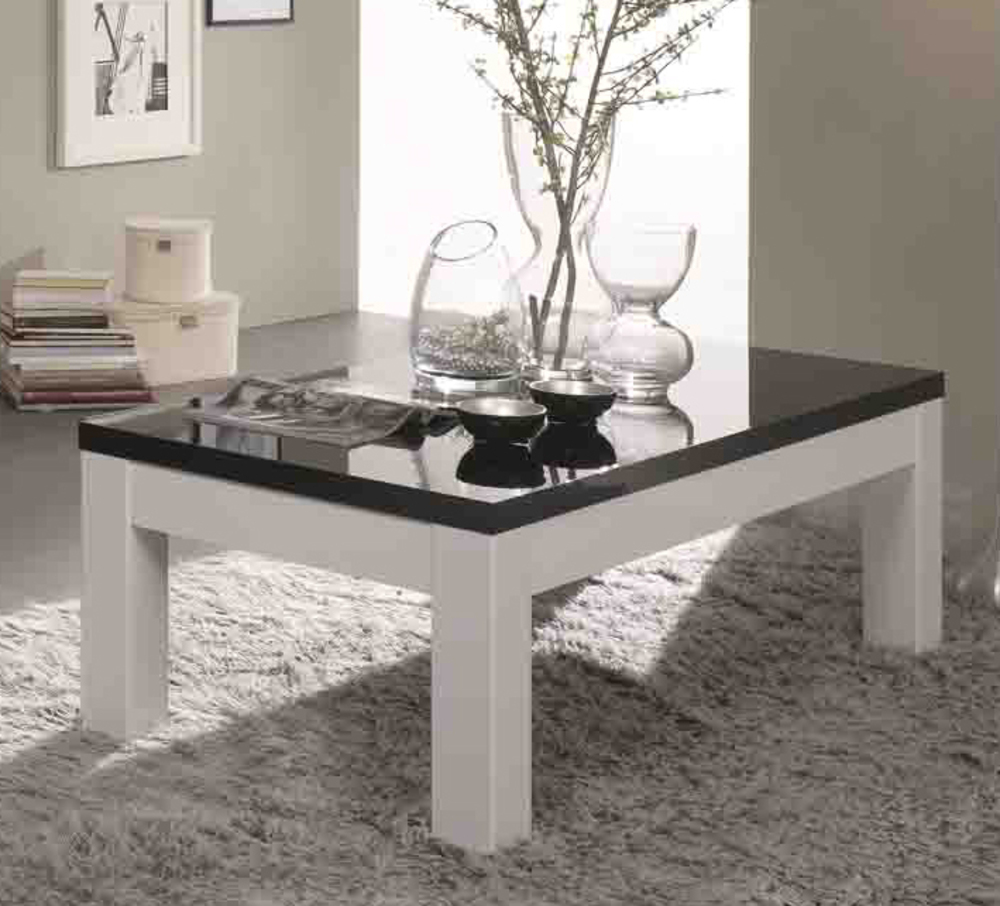 table basse firenze blanc noir. Black Bedroom Furniture Sets. Home Design Ideas