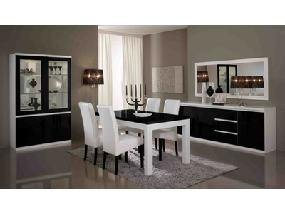 Table basse Firenze blanc/noir