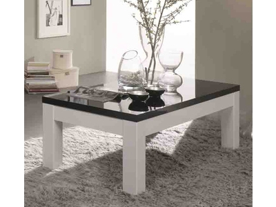 Table basse Firenze blanc/noir