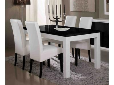 Table de repas Firenze blanc/noir