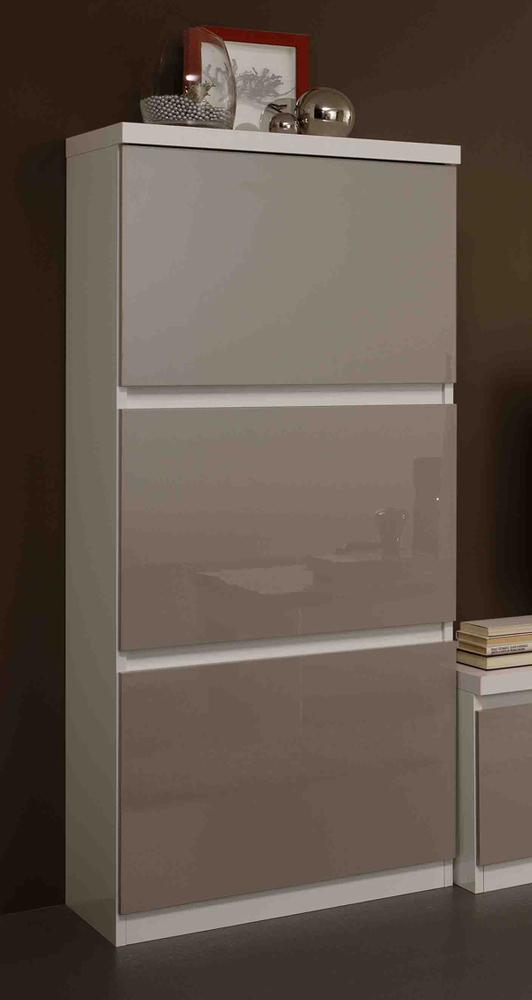 colonne roma laqu bicolore blanc gris. Black Bedroom Furniture Sets. Home Design Ideas