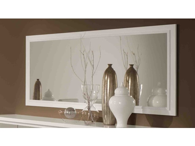 Miroir Roma laqué bicolore blanc/gris