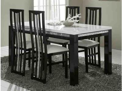 Table de repas Cromo laque bicolore