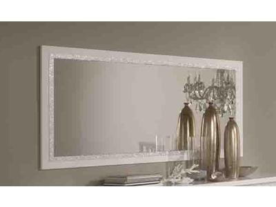 Miroir Cromo  laque blanc