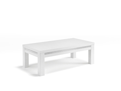 Table basse Cromo  laque blanc