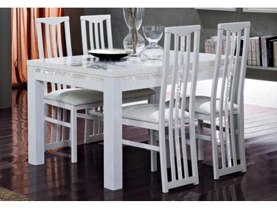 Table de repas Cromo  laque blanc
