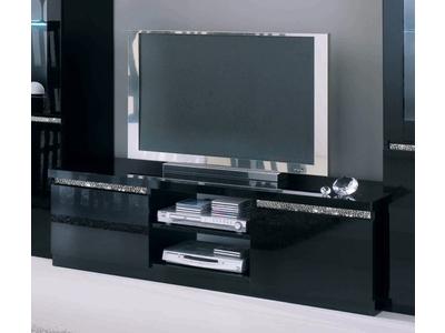 Meuble tv plasma Cromo  laque noir