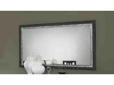 Miroir Cromo  laque noir